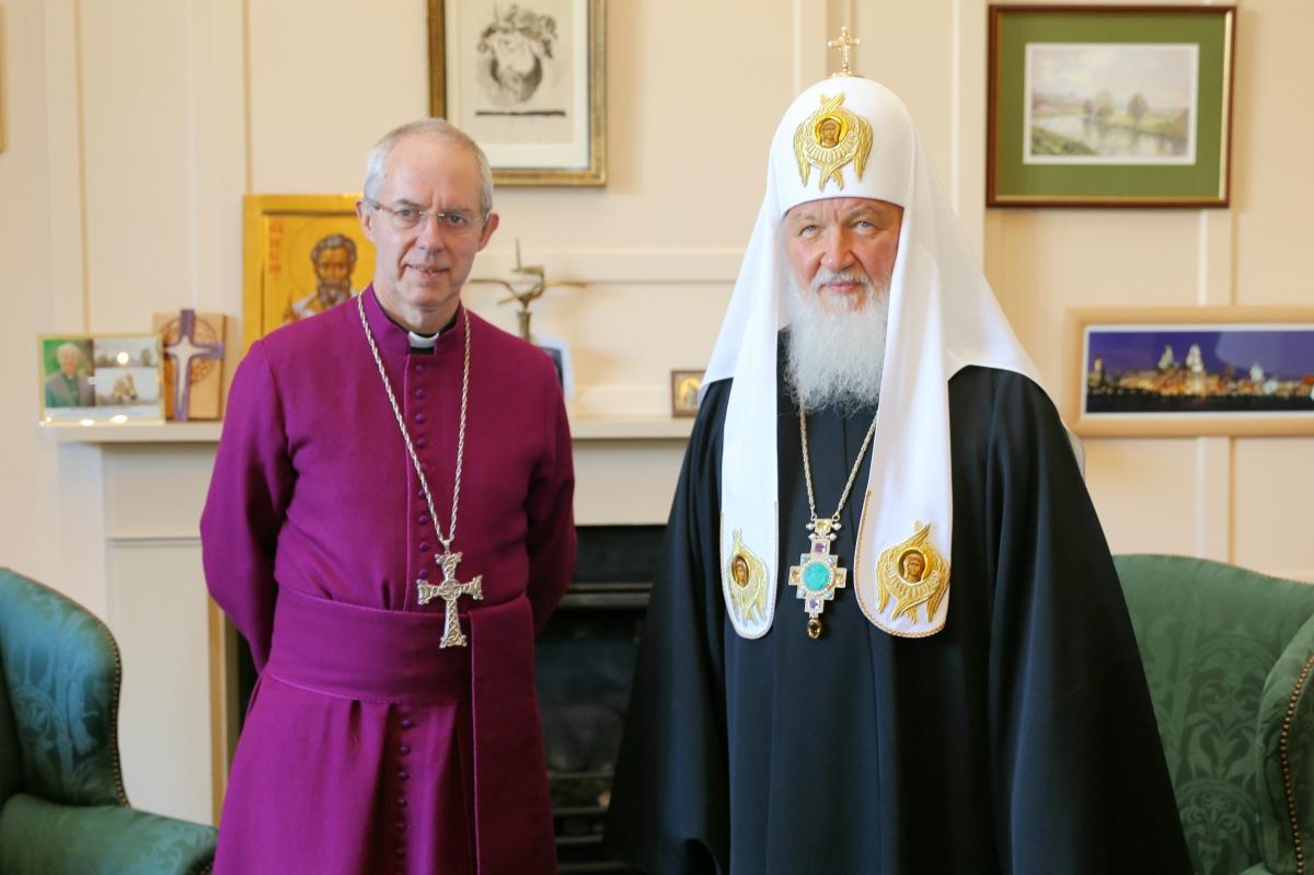 Глава англикан Дж.Уэлби встретится с патриархом Кириллом 20 ноября 2017 года